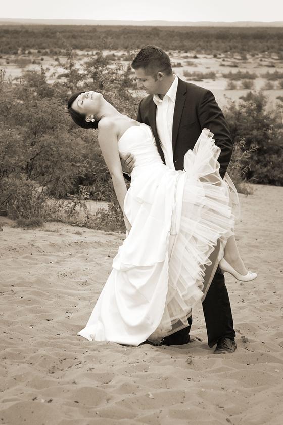 plener ślubny na pustyni