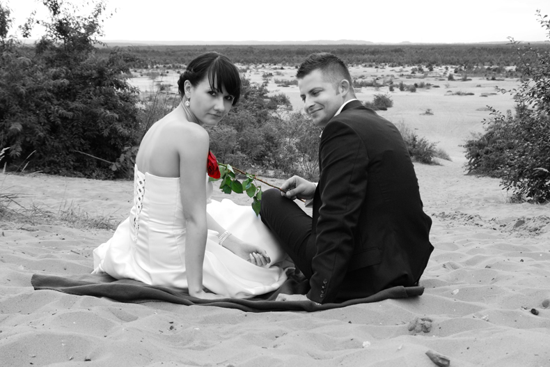 plener ślubny pustynia