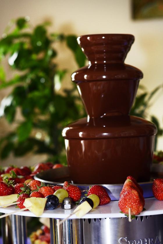 sesja fontanna czekoladowa