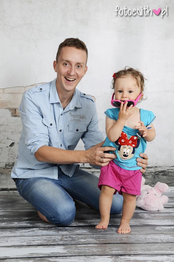 sesja tata z córką Kraków